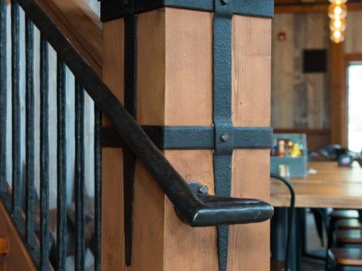 Hand Hammered Stair Rails