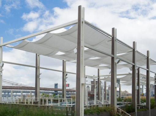Metal Fabricated Steel Canopy Pavilion - Pier 17