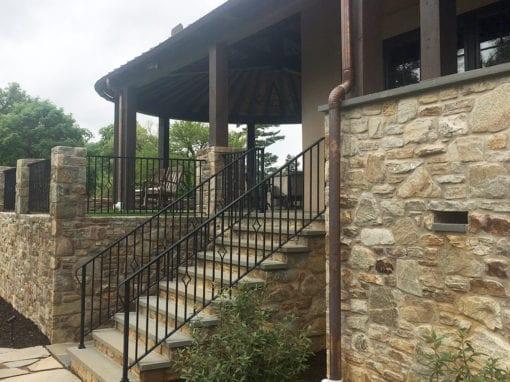 Residential Exterior Steel Hand Railings