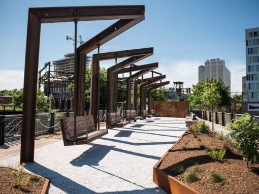 Corten Steel Park Swings