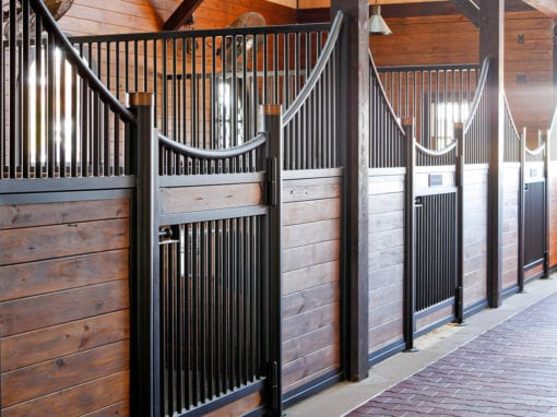 Posterivo Horse Stalls with Timber Frames