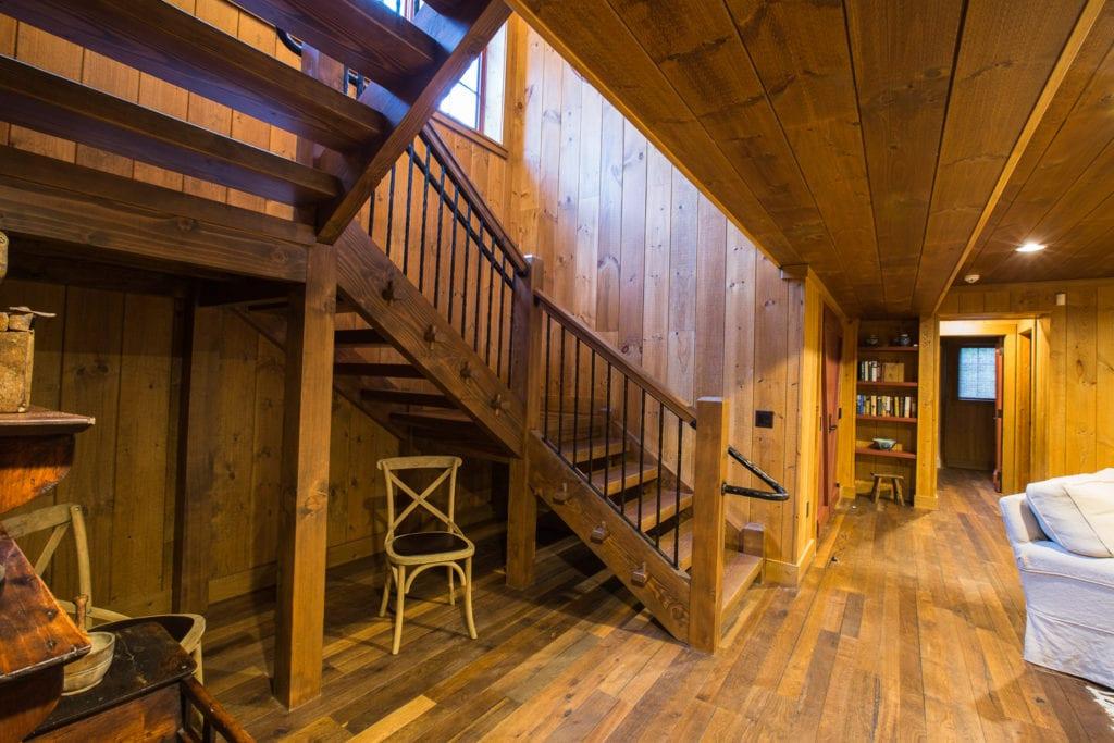 Hand hammered steel stair railings
